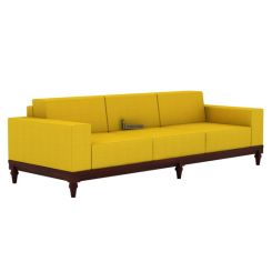 Ayres 3 Seater Fabric Sofa (Yellow Blush)