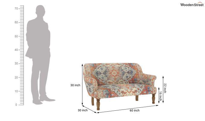 Bailey 2 Seater Sofa (Kilim, Persian Beige)-7