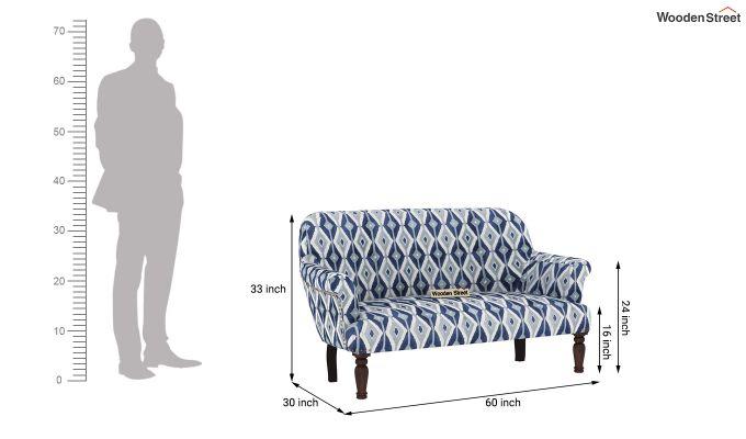 Bailey 2 Seater Sofa (Kilim, Persian Blue)-4