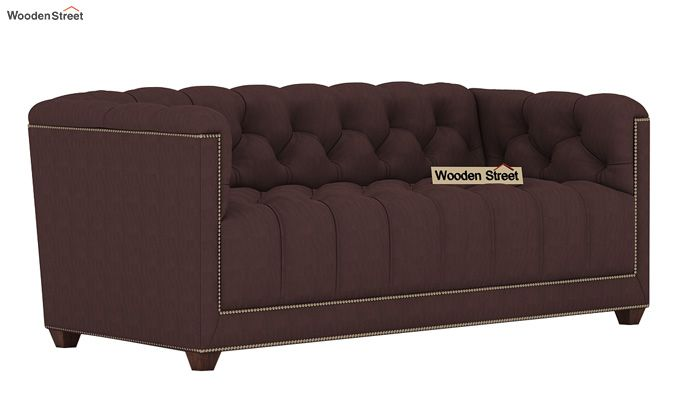 Baxter 2 Seater Sofa (Fabric, Classic Brown)-1