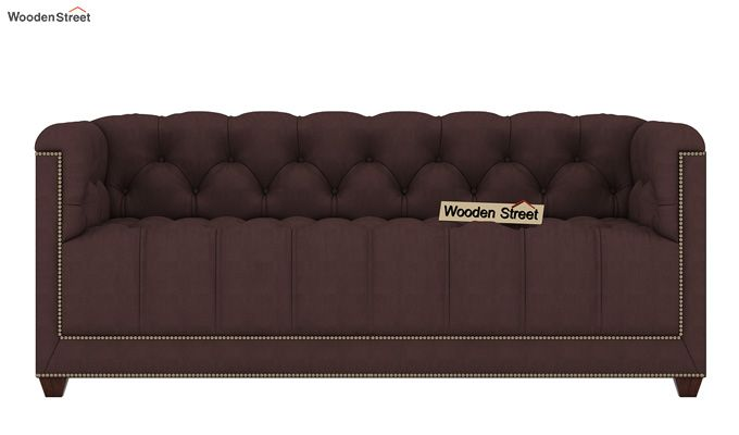 Baxter 2 Seater Sofa (Fabric, Classic Brown)-2