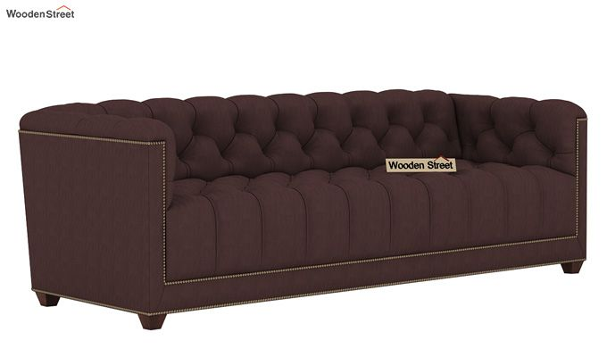 Baxter 3 Seater Sofa (Fabric, Classic Brown)-1