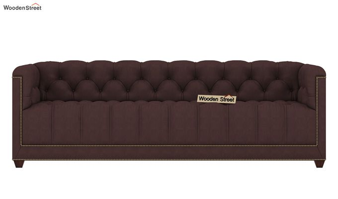 Baxter 3 Seater Sofa (Fabric, Classic Brown)-2