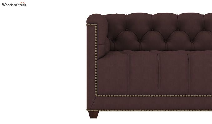 Baxter 3 Seater Sofa (Fabric, Classic Brown)-3