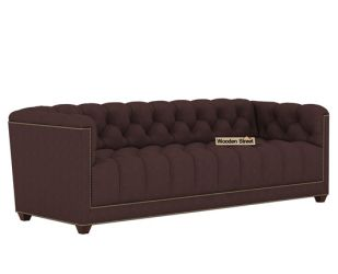 Baxter 3 Seater Sofa (Fabric, Classic Brown)