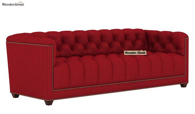 Baxter 3 Seater Sofa (Fabric, Dusky Rose)-1
