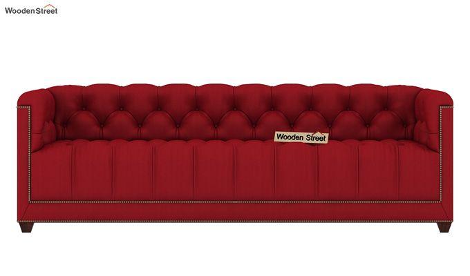 Baxter 3 Seater Sofa (Fabric, Dusky Rose)-2
