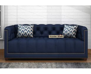 Baxter 2 Seater Sofa (Fabric, Indigo Ink)