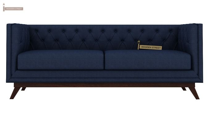 Berlin 3+2 Fabric Sofa Set  (Indigo Ink)-3