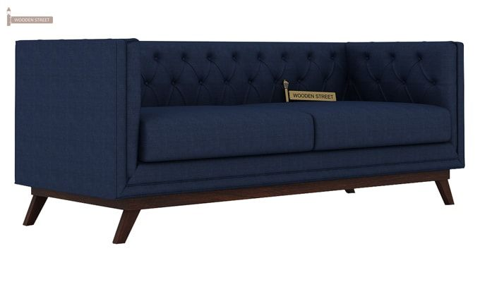 Berlin 3+2 Fabric Sofa Set  (Indigo Ink)-2