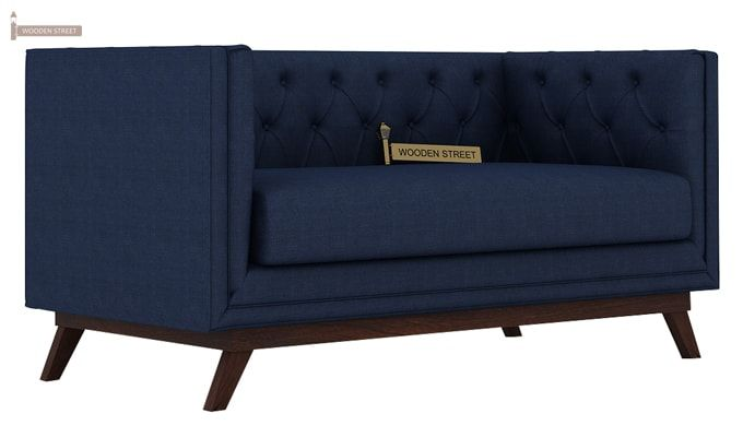 Berlin 3+2 Fabric Sofa Set  (Indigo Ink)-4