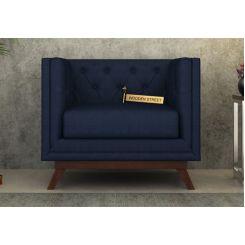 Berlin 1 Seater Sofa (Fabric, Indigo Ink)