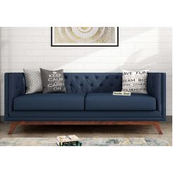 Berlin 3 Seater Sofa (Fabric, Indigo Ink)