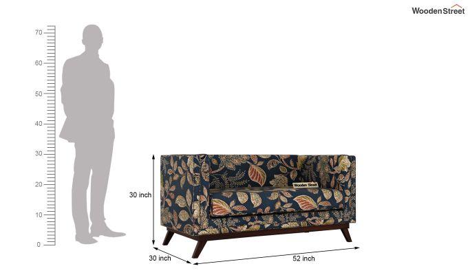 Berlin 2 Seater Sofa (Fabric, Dusky Leaf)-11