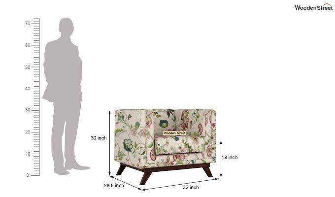 Berlin 2 Seater Sofa (Fabric, Rose Vineyard)-10