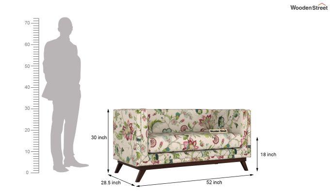 Berlin 2 Seater Sofa (Fabric, Rose Vineyard)-11