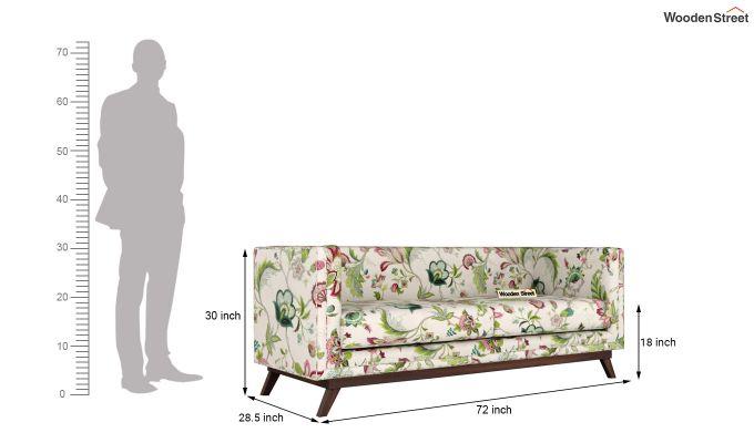 Berlin 2 Seater Sofa (Fabric, Rose Vineyard)-12