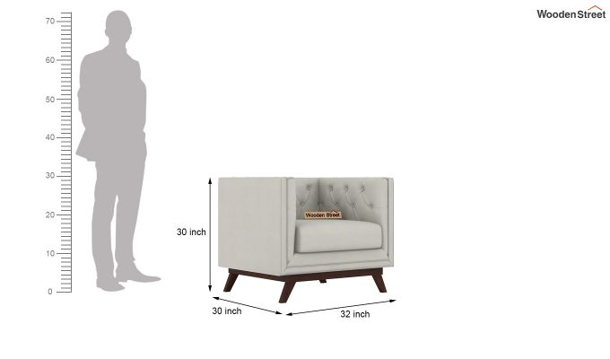 Berlin 2 Seater Sofa (Fabric, Ivory Nude)-7