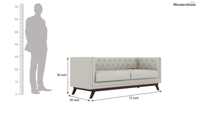 Berlin 2 Seater Sofa (Fabric, Ivory Nude)-9