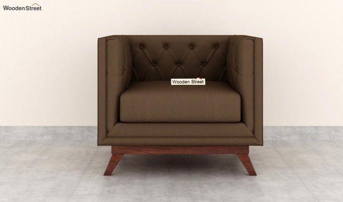 Berlin 2 Seater Sofa (Fabric, Classic Brown)-6