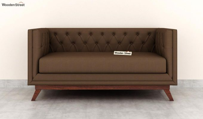 Berlin 2 Seater Sofa (Fabric, Classic Brown)-3