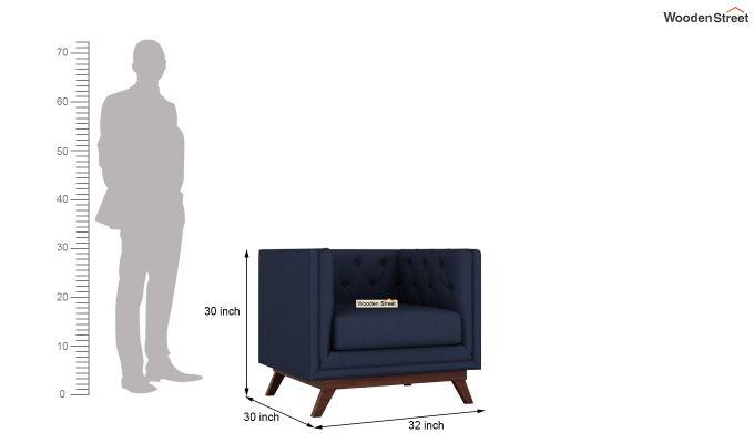 Berlin 2 Seater Sofa (Fabric, Indigo Ink)-11