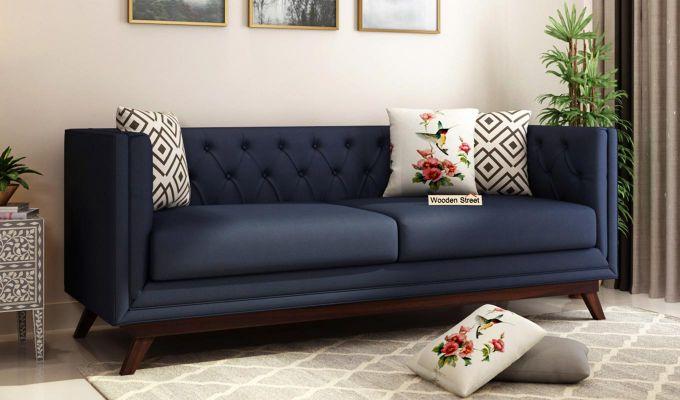 Berlin 2 Seater Sofa (Fabric, Indigo Ink)-7