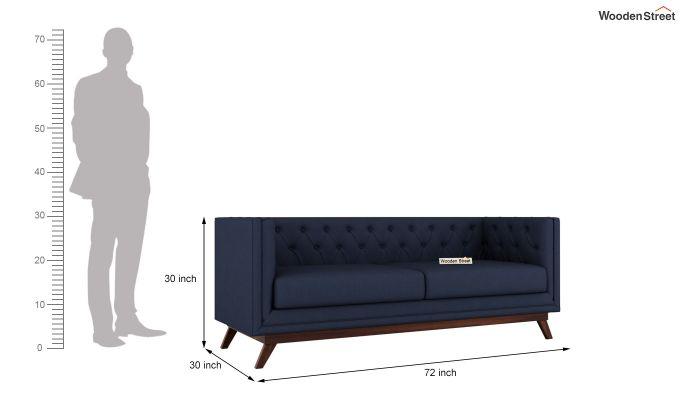 Berlin 2 Seater Sofa (Fabric, Indigo Ink)-13
