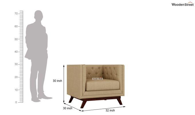 Berlin 2 Seater Sofa (Fabric, Irish Cream)-9
