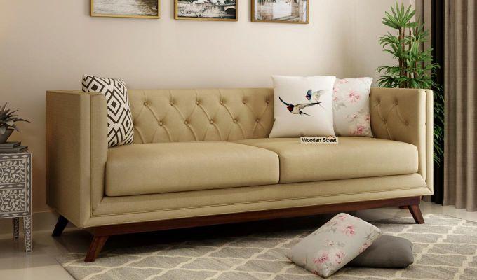 Berlin 2 Seater Sofa (Fabric, Irish Cream)-7