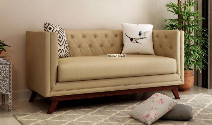Berlin 2 Seater Sofa (Fabric, Irish Cream)-1