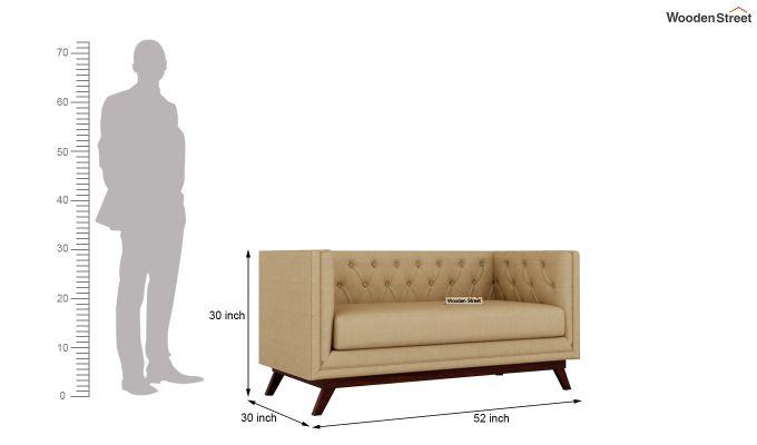 Berlin 2 Seater Sofa (Fabric, Irish Cream)-10