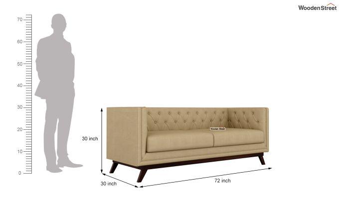 Berlin 2 Seater Sofa (Fabric, Irish Cream)-11