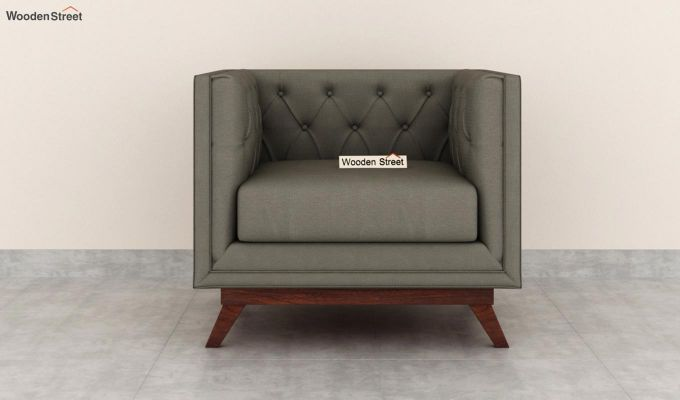 Berlin 2 Seater Sofa (Fabric, Warm Grey)-6
