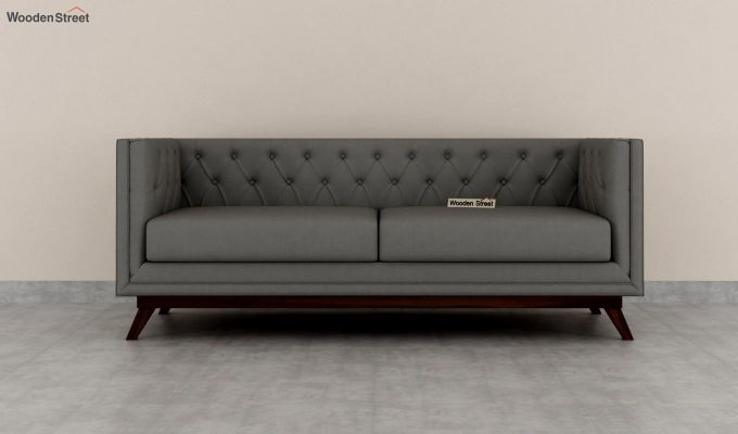 Berlin 2 Seater Sofa (Fabric, Warm Grey)-8