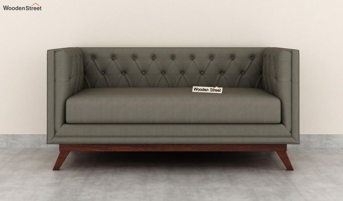 Berlin 2 Seater Sofa (Fabric, Warm Grey)-3