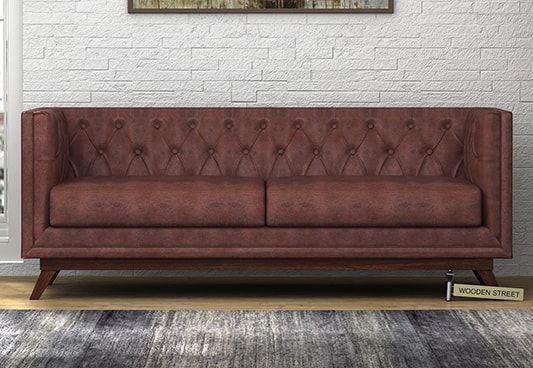 Berlin 3 Seater Leatherette Sofa (Dark Chocolate)