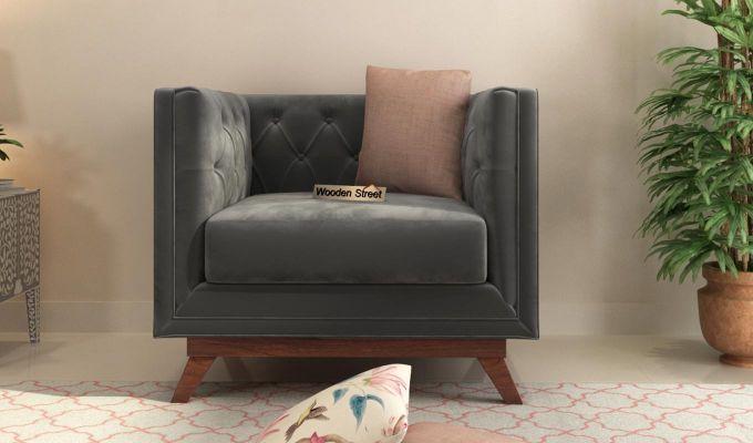 Berlin 2 Seater Sofa (Velvet, Graphite Grey)-7