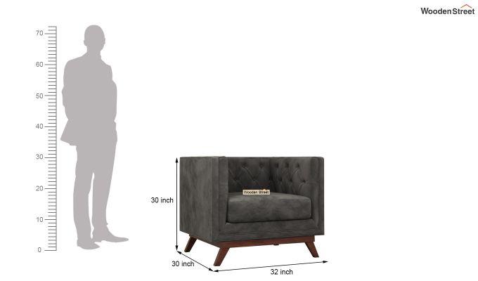 Berlin 2 Seater Sofa (Velvet, Graphite Grey)-10