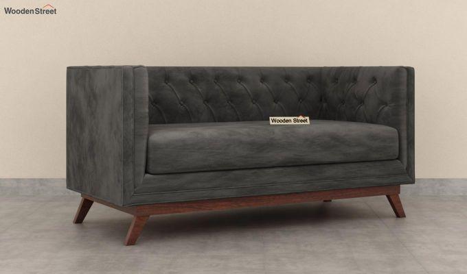Berlin 2 Seater Sofa (Velvet, Graphite Grey)-3