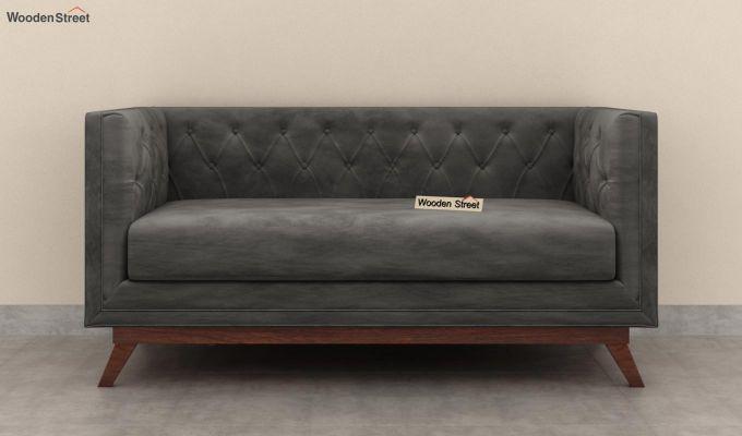 Berlin 2 Seater Sofa (Velvet, Graphite Grey)-4