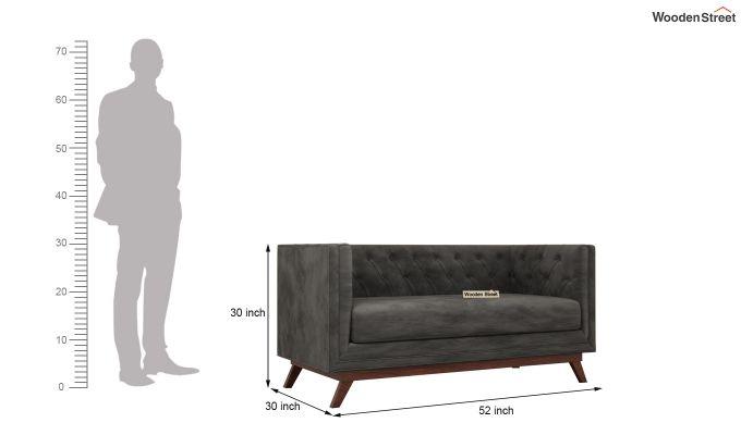 Berlin 2 Seater Sofa (Velvet, Graphite Grey)-11