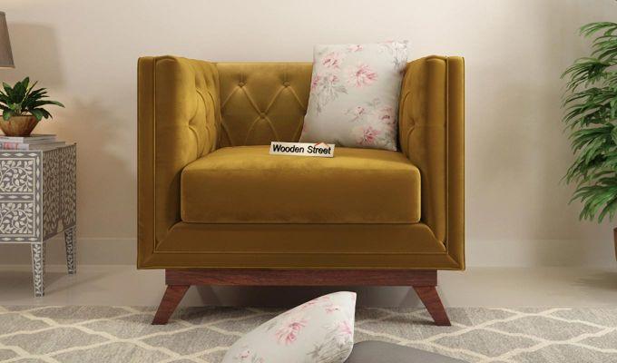 Berlin 2 Seater Sofa (Velvet, Chestnut Brown)-7