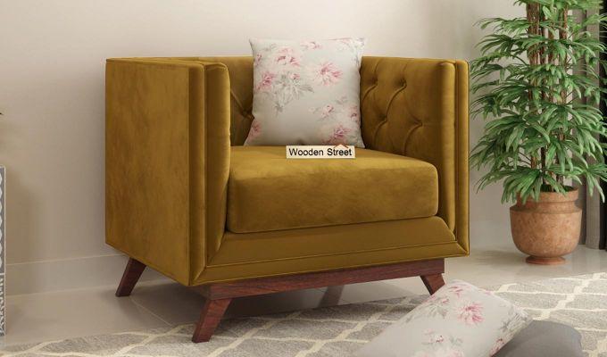 Berlin 2 Seater Sofa (Velvet, Chestnut Brown)-6