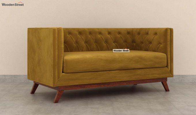 Berlin 2 Seater Sofa (Velvet, Chestnut Brown)-1