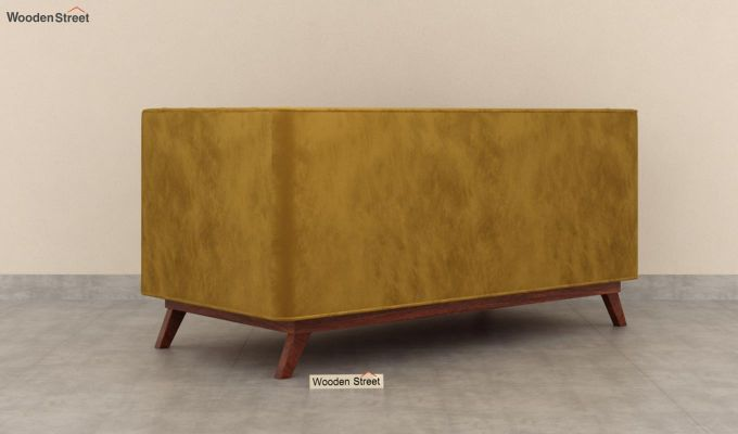 Berlin 2 Seater Sofa (Velvet, Chestnut Brown)-5