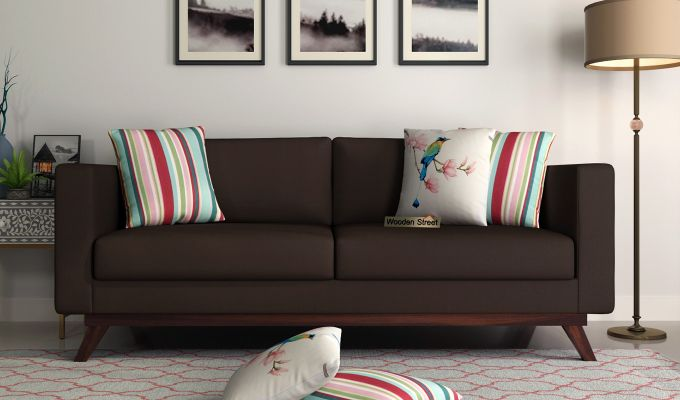Casper 2 Seater Sofa (Fabric, Classic Brown)-8