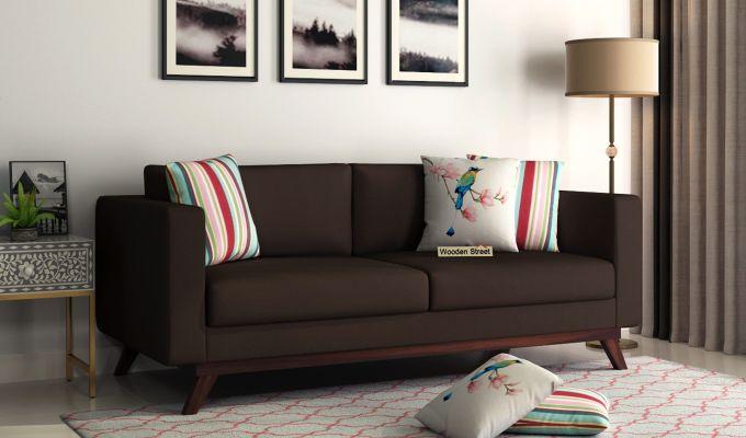 Casper 2 Seater Sofa (Fabric, Classic Brown)-7