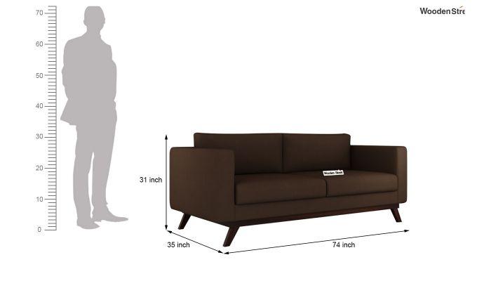 Casper 2 Seater Sofa (Fabric, Classic Brown)-11