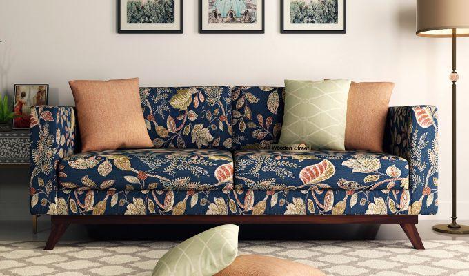 Casper 2 Seater Sofa (Fabric, Dusky Leaf)-8